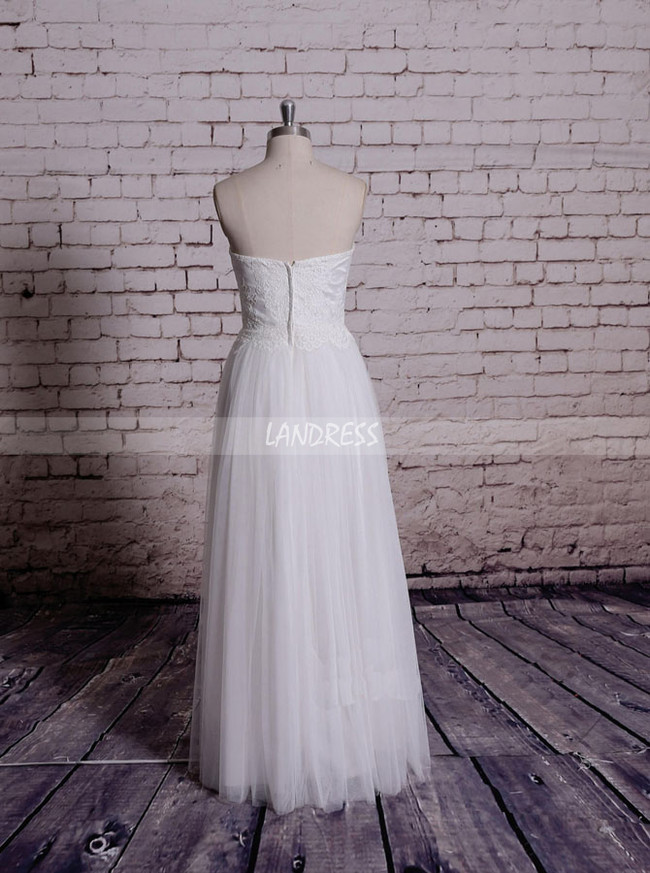 Sweetheart Wedding Dresses,Floor Length Wedding Dress,11580