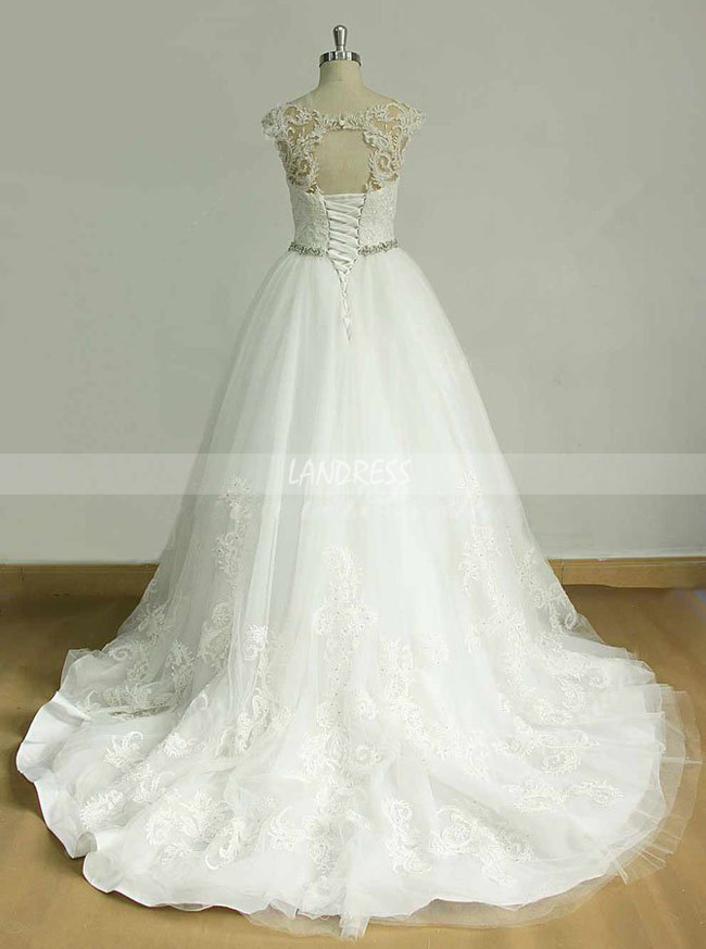 Princess Wedding Dresses,Tulle Wedding Gown with Appliques,11589