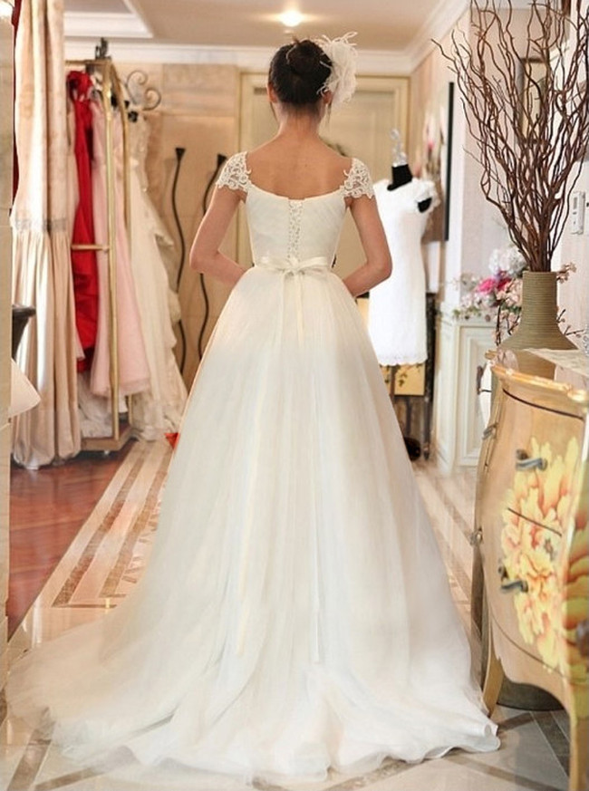 Sweetheart Wedding Dresses,Tulle Ball Gown Wedding Dresses,11644