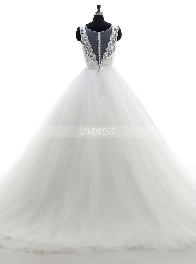 A-line Wedding Dresses,Simple Bridal Dress,11678