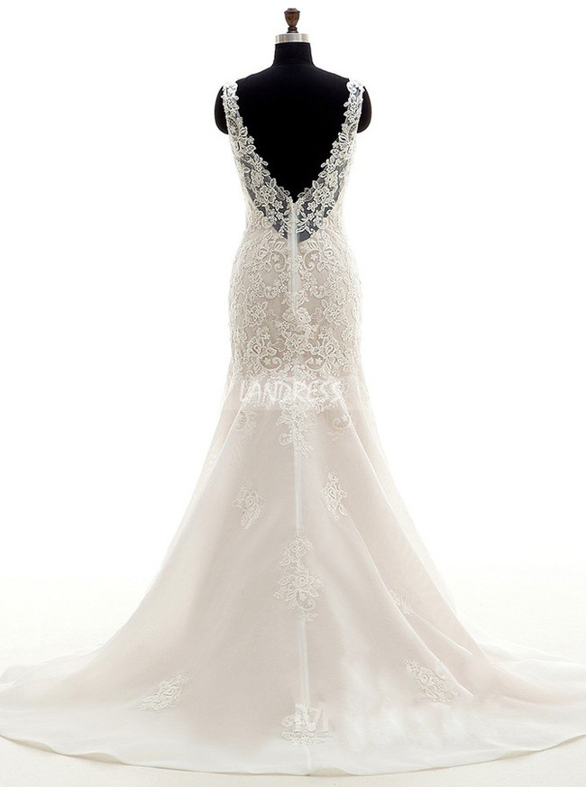 Mermaid Wedding Dresses,Elegant Lace Bridal Dress,11679