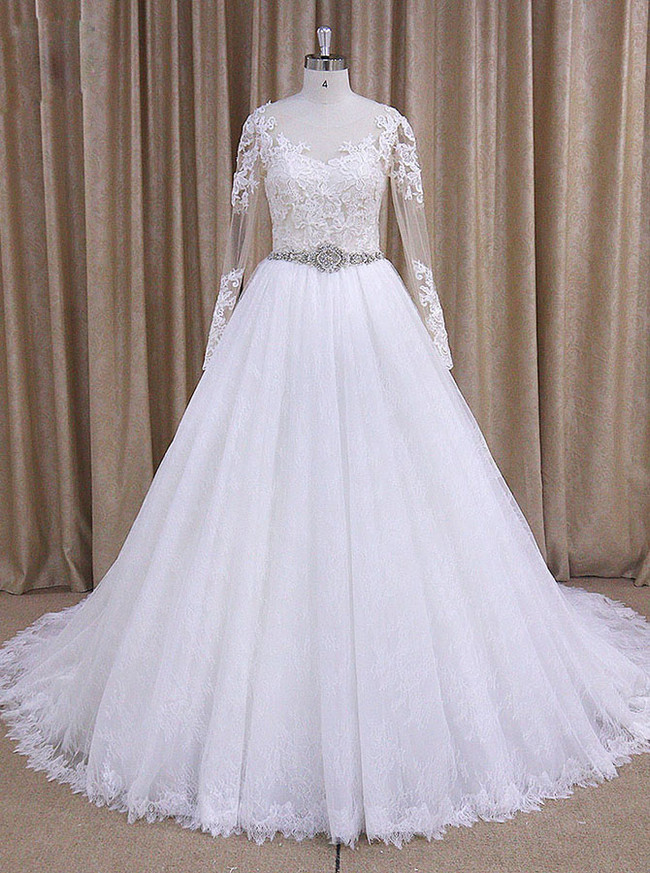 Wedding Dresses with Sleeves,Vintage Wedding Dress,11710