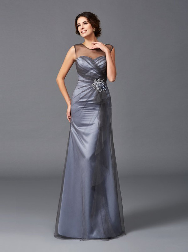Tulle Mermaid Mother of the Bride Dresses,Chic Mother Dresses,11726