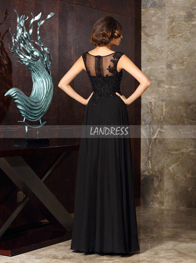 Black Formal Mother of the Bride Dresses,Chiffon Evening Dress,11745