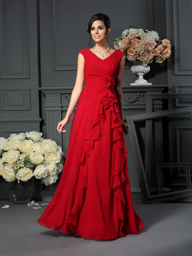 Red Mother of the Bride Dresses,Gorgeous Mother Dress,11759