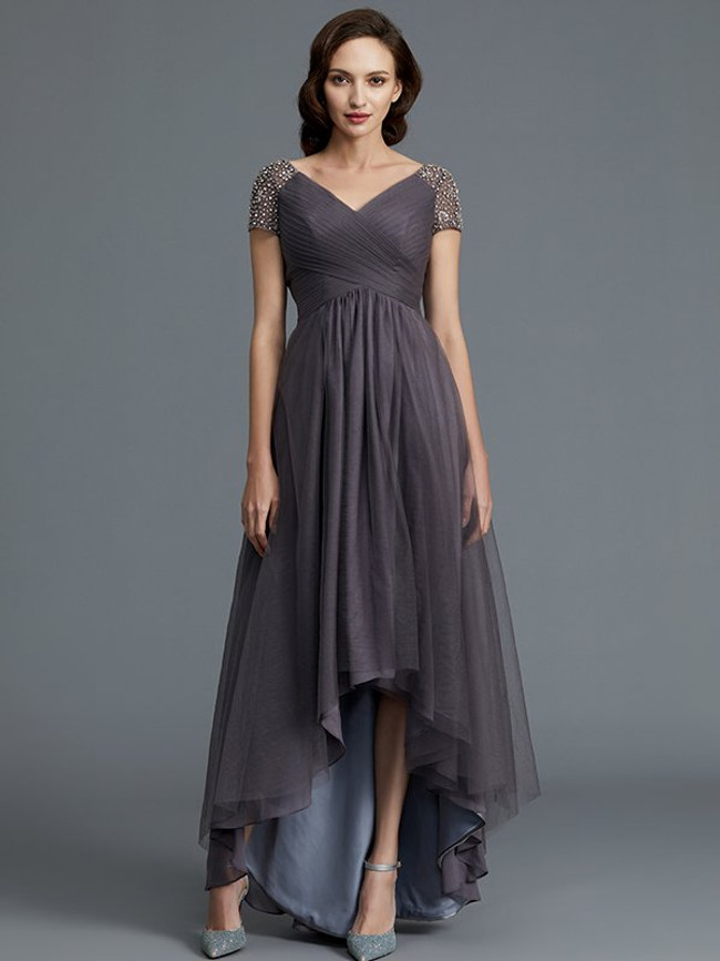 fe39d22739 Grey High Low Mother of the Bride Dresses