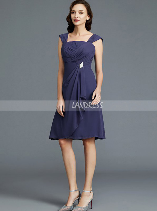 Knee Length Mother of the Bride Dress with Jacket,Chiffon Summer Mother  Dress,11771