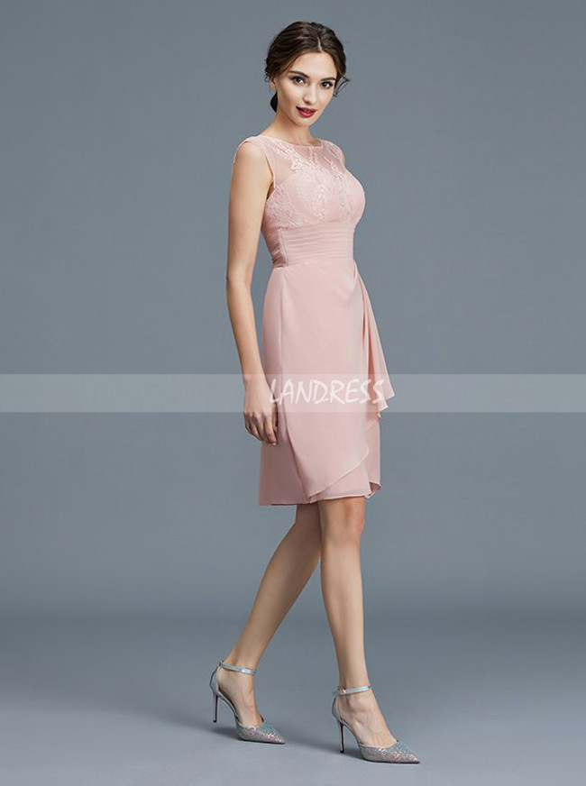 Dark Pink Mother of the Bride Dress with Jacket,Short Mother Dress,11773
