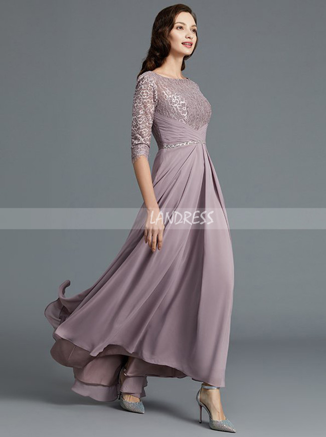 High Low Mother of the Bride Dresses with Jacket,Mother Dress with Sleeves,11783