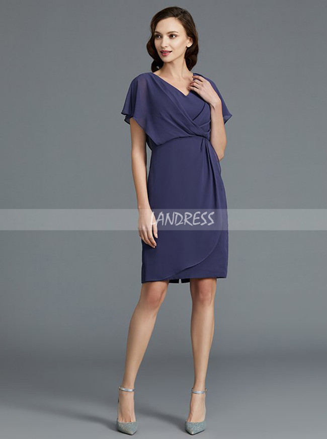 Knee Length Mother of the Bride Dresses,Chiffon Mother Dress,11787