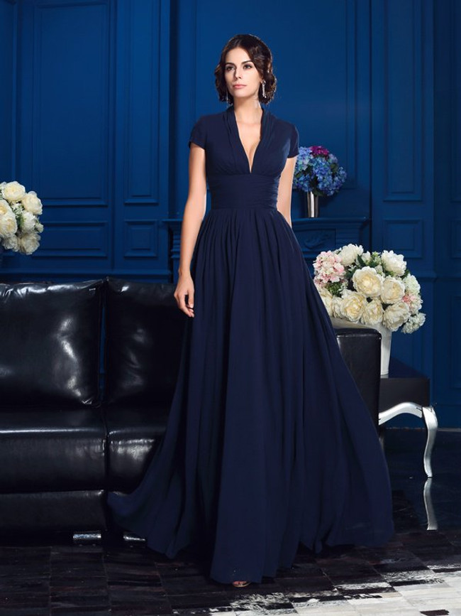 Dark Navy Mother of the Bride Dresses,Simple Mother Dress,11795
