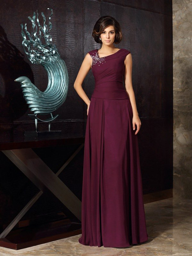 Grape Mother of the Bride Dresses,Modest Mother Dress,11798
