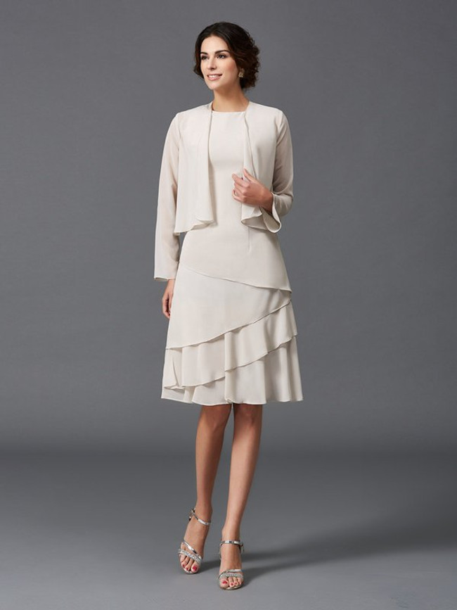 Asymmetrical Mother of the Bride Dresses with Jacket,Short Mother Dress,11802
