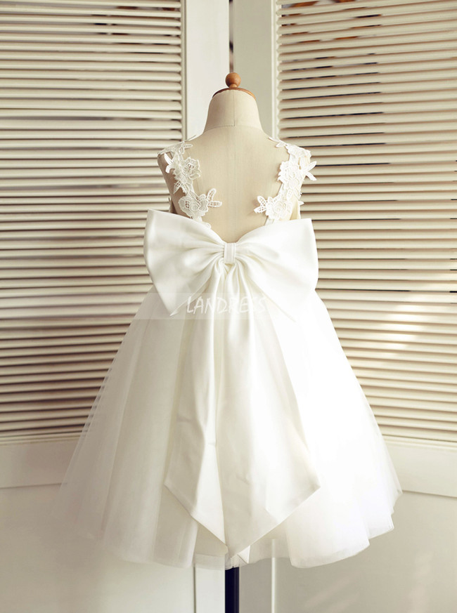 Cute Flower Girl Dresses,Flower Girl Dress with Bowknot,11820