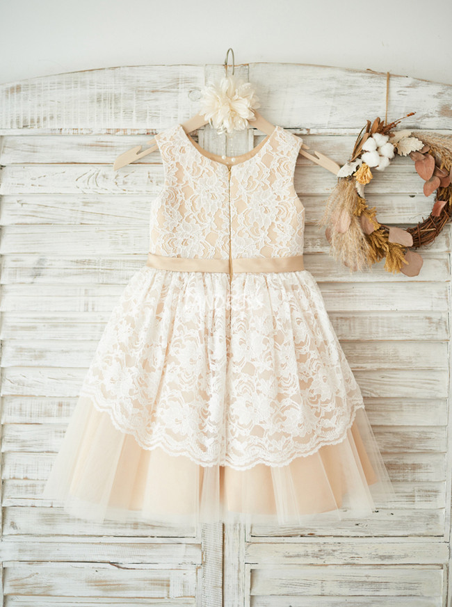 Adorable Girl Party Dresses,Lace Flower Girl Dress,11832