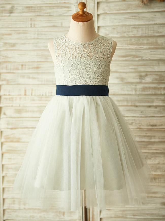 Silver Flower Girl Dressesclassic Girl Party Dress11838 Landress