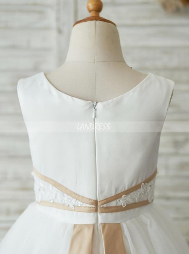 White Flower Girl Dressesknee Length Simple Holiday Girl Dresses