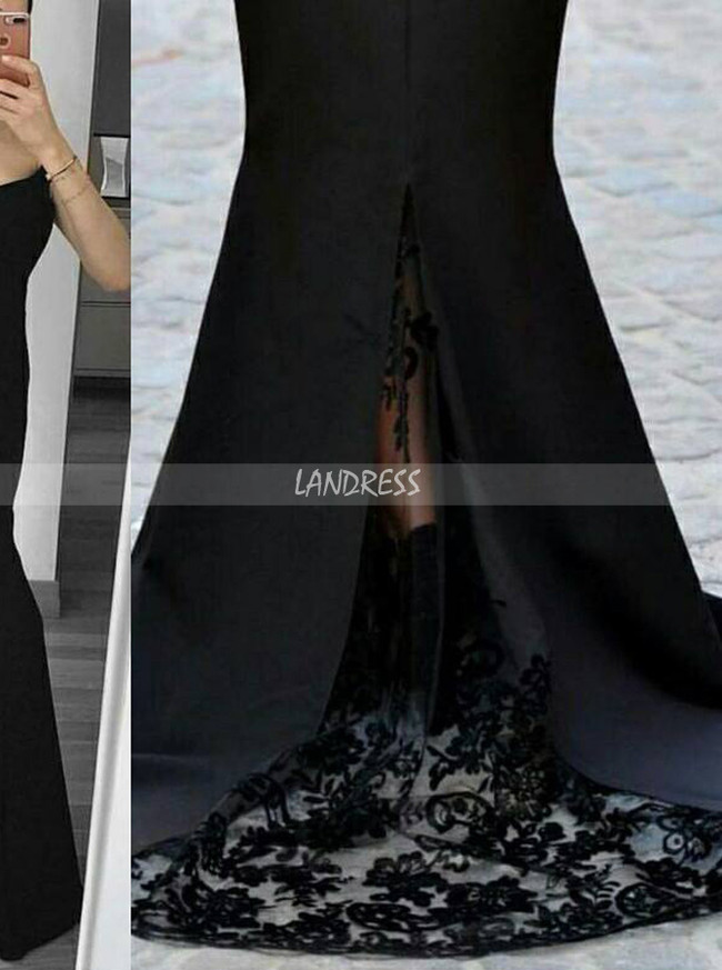 Black Evening Dresses,Off the Shoulder Prom Dress,11865