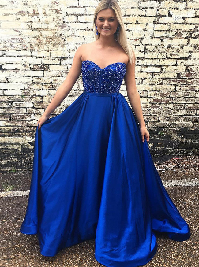 Long Strapless Prom Gowns,Classic Prom Dress,11897