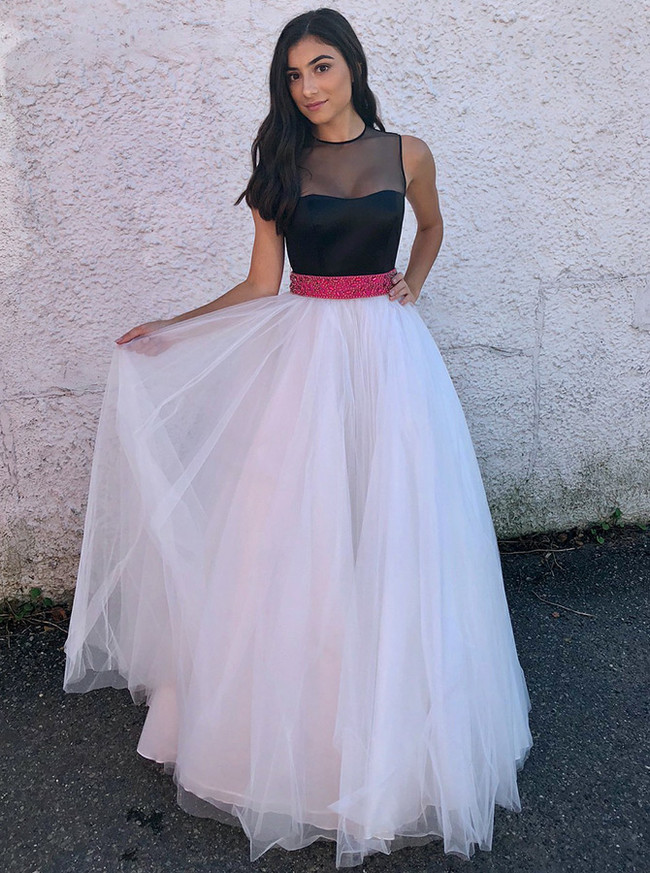 Two Tone Prom Dresses for Teens,Tulle Princess Prom Dress,11928