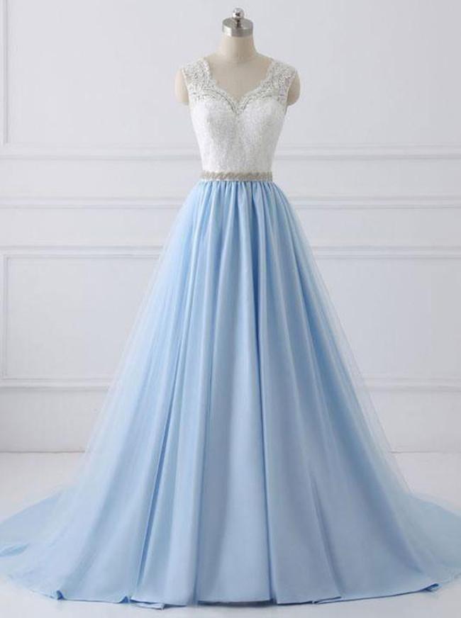 A-line Modest Prom Dresses,Princess Prom Dress,11941