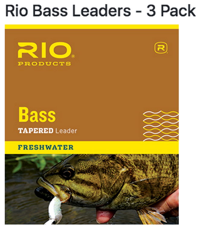 Rio 3 pack Bass Tapered Leader