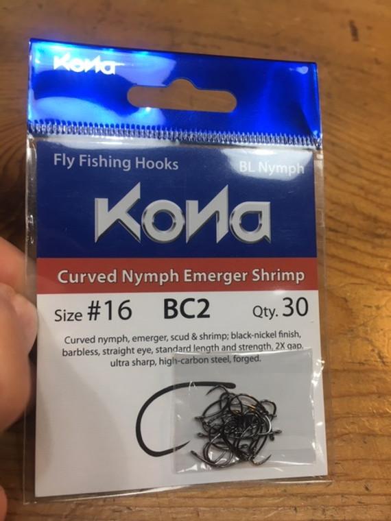 Kona Bc2 Hooks Curved Nymph Emerger