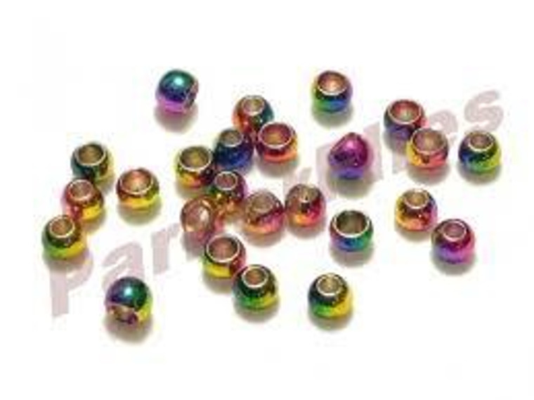 Multihued Rainbow Brass Beads 25pack