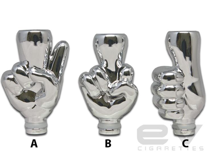 Finger Drip Tip (Chrome) for 510 | 808D-1 | 901