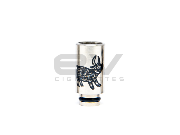 Stainless Steel Zodiac Ox Wide Bore Drip Tip for 510 / RBAs / 808D-1 / 901