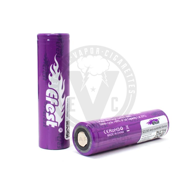 Efest Purple 18650 IMR 2100mAh Flat Top Battery - 20A / 38A