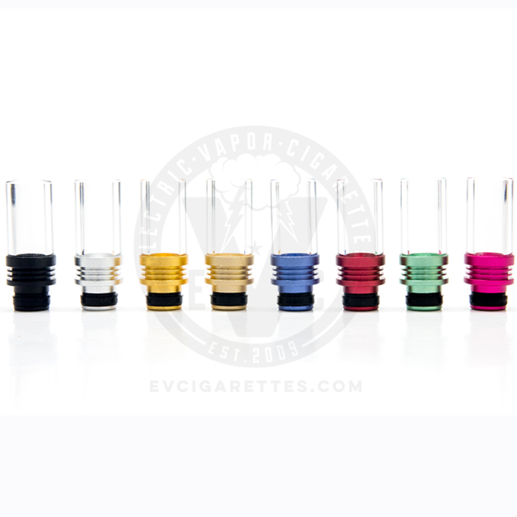 Glass & Aluminum 510 Wide Bore Drip Tip Mouthpiece - Type A