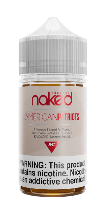 Naked 100 Tobacco E-Liquid - American Patriots