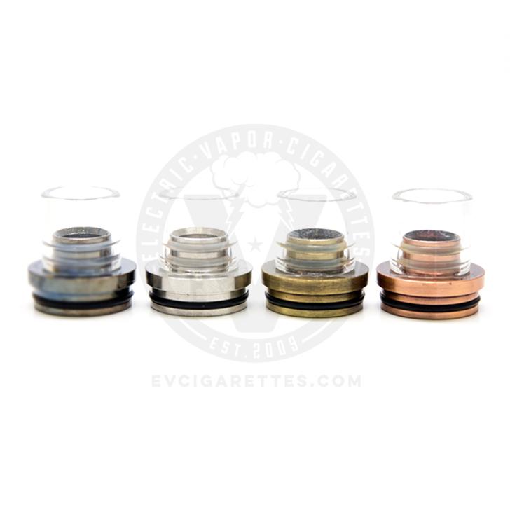 Metal & Glass XL Chuff Flat-Top Top Cap