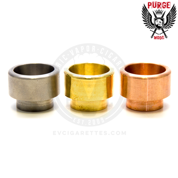 The Purge metal 810 drip tips are made from your choice of copper, brass, and stainless steel.