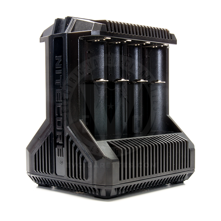 The i8 Intelligent Eight-Bay Battery Charger by Nitecore