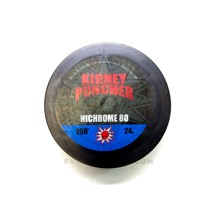 Nichrome 80 Wire Spool by Kidney Puncher in 250ft of 24AWG