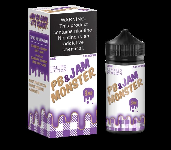 Jam Monster E-Liquid - PB & Jam Grape
