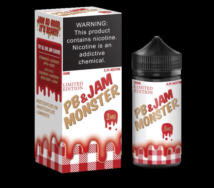 Jam Monster E-Liquid - PB & Jam Strawberry