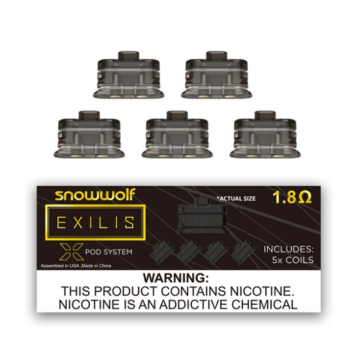 SnowWolf Exilis XPod Pod & Coil Replacement by Sigelei
