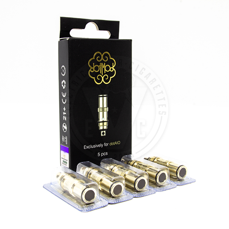 dotAIO / dotAIO SE Atomizer Coil Head Replacement by dotMod, Inc. (5pcs)