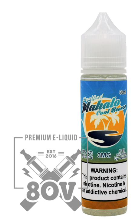 Liquified x 80V E-Liquid - Mahalo Cool Breeze