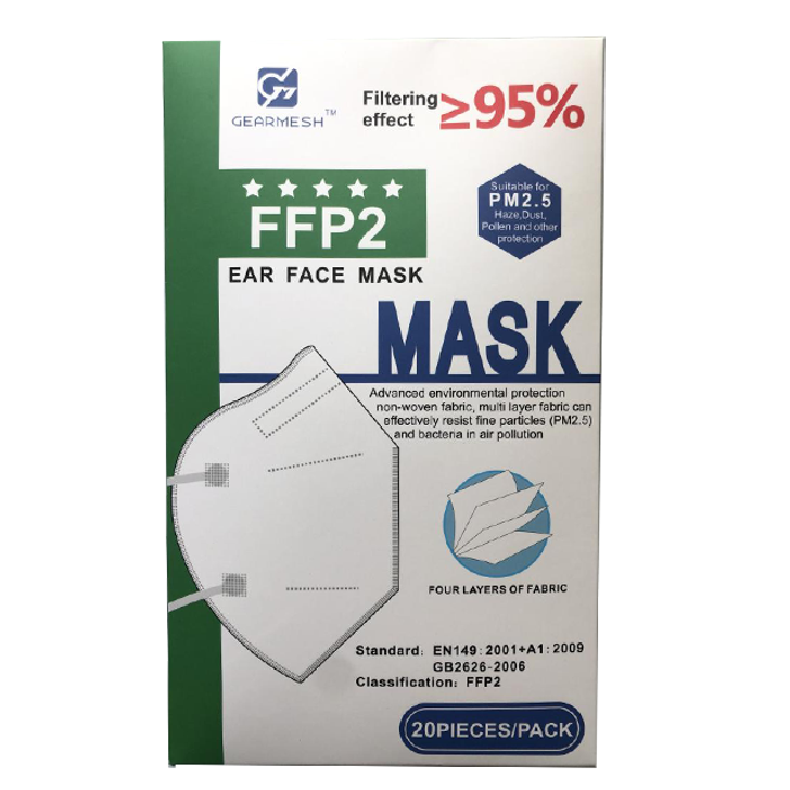 Disposable Face Mask - KN95 Four Tier by Gearmesh (20pcs)