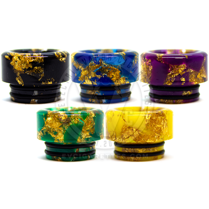 Resin Golden Floral 810 Drip Tip (1pc)