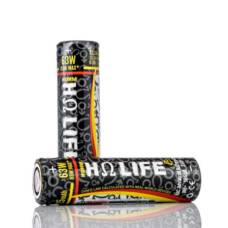 HOHM LIFE⁴ 18650 3015mAh Battery - 22.1A (1pc)