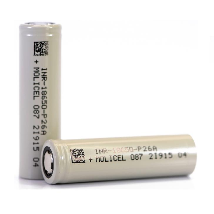 Molicel P26A 18650 2600mAh Battery - 35A