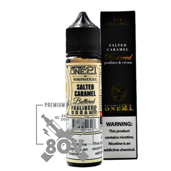 District One21 & 80V E-Liquid - Salted Caramel