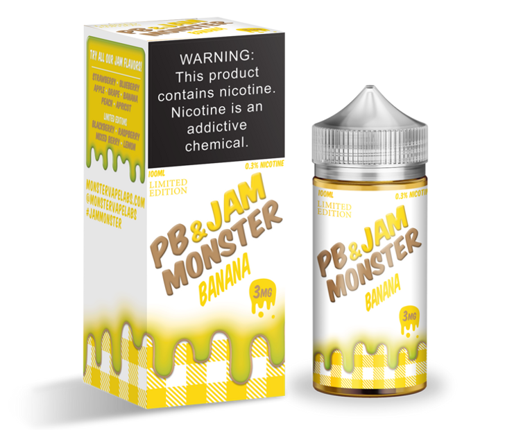 Jam Monster E-Liquid - PB & Jam Banana