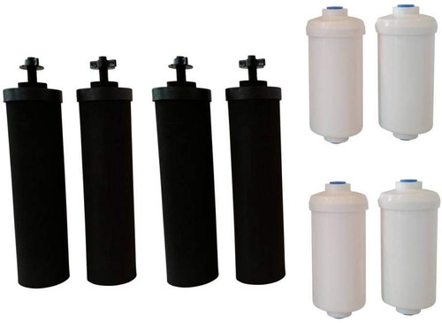 4 Black Berkey and 4 PF-2 fluoride filters