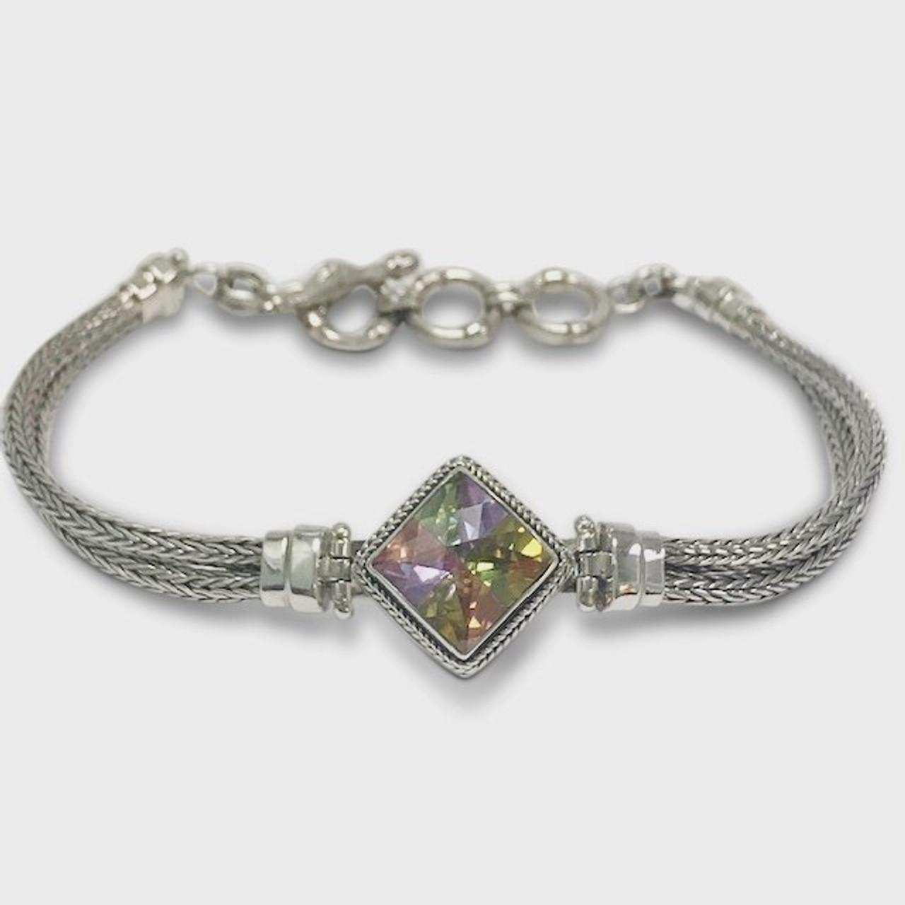 Cut stone bracelet vintage